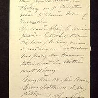 Visuel du media #3 - Lettre de Lisch à De La Croix du 06 avril 1882, page 2