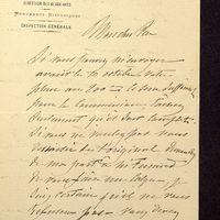 Visuel du media #12 - Lettre de Lisch à De La Croix du 21 septembre 1882, page 1