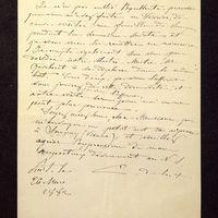 Lettre de De La Croix à Lasteyrie Du Saillant du 26 mars 1882