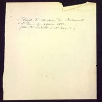 Notes dépôt d'un tombeau au baptistère Saint-Jean