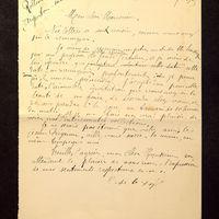 Visuel du document Correspondance avec Raymond Rollinat (1905-1906)