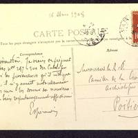 Carte postale de Espérandieu à De La Croix du 16 mars 1908