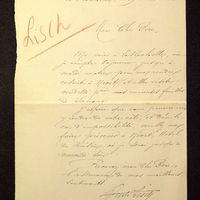 Visuel du media #8 - Lettre de Lisch à De La Croix du 19 août 1882