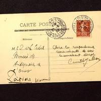 Carte postale de Jullian à De La Croix du 22 juin 1903