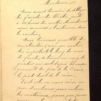Lettre de Beaunard du 01 juin 1901, page 1