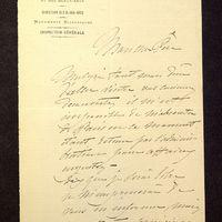Visuel du media #6 - Lettre de Lisch à De La Croix du 09 juin 1882, page 1