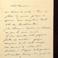 Lettre de Join-Lambert à De La Croix du 07 juillet 1896, page 1