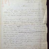 Lettre de De La Croix à Quicherat du 31 août 1879, page 1