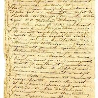Lettre de De La Croix à Espérandieu du 10 novembre 1887, page 1